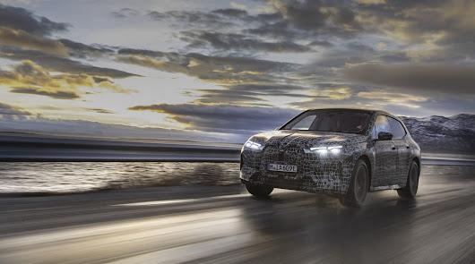 El BMW IX comienza su último test de invierno