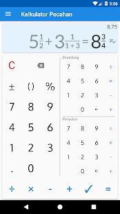 Kalkulator pecahan dengan solusinya Mod