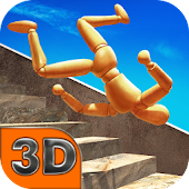 Stair Dummy Crash Test 3D