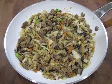 Sausage cabbage bowl