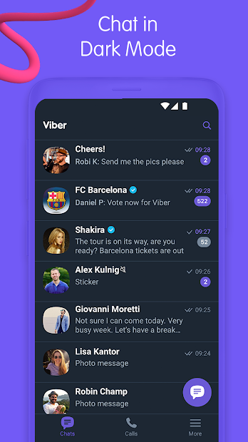 Viber Messenger - Messages, Group Chats & Calls Android App Screenshot