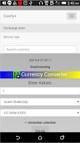 Currency Converter Easily+ app for Android screenshot
