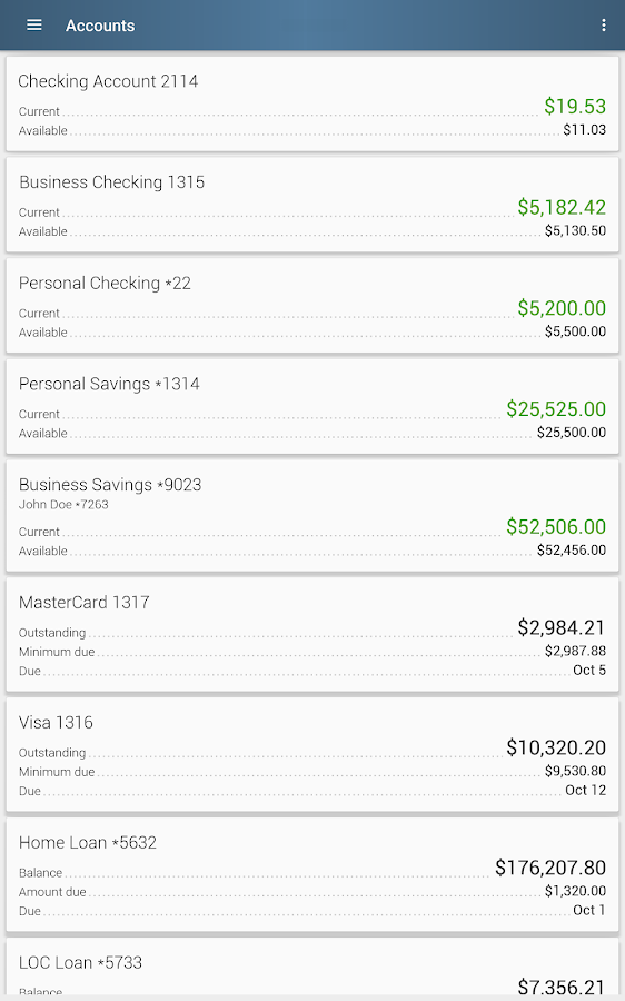 WCFECU Mobile Banking- screenshot