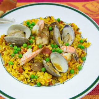 Paella for Four; A Wonderful Spanish Mixed Seafood Stew