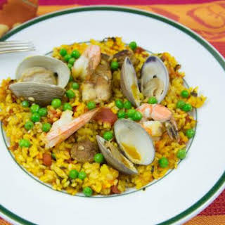 Paella for Four; A Wonderful Spanish Mixed Seafood Stew.