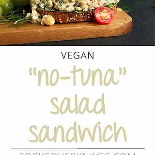 """No-Tuna"" Salad Sandwich."