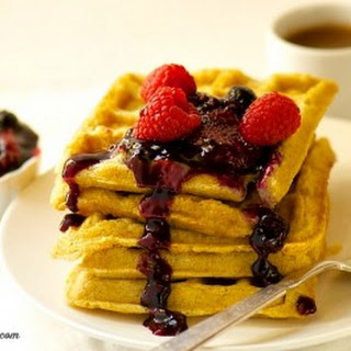Vegan Waffles with Mixed Berry Compote