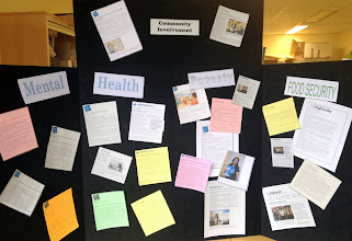 Photo: Kathy did a great job collecting recent news articles related to social determinants of health from the areas near Simcoe, Muskoka, Haliburton, Kawartha, Northumberland and Peterborough.