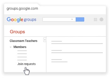 Find Join requests under Classroom Teachers Members