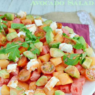 Mixed Melon and Avocado Salad