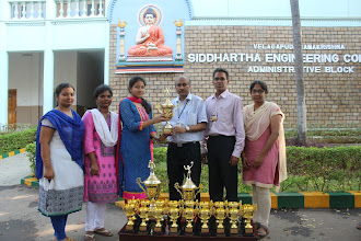 Photo: BADMINTON WOMEN JNTUK WINNERS TEAM 2015-16 WITH DR AV RATNAPRASAD PRINCIPAL AND TEAM PLAYERS
