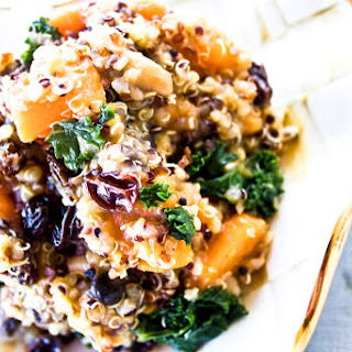 Kale + Raisin + Mushroom + Sweet Potato Quinoa.