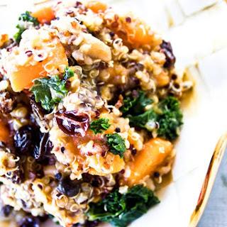 Kale + Raisin + Mushroom + Sweet Potato Quinoa.