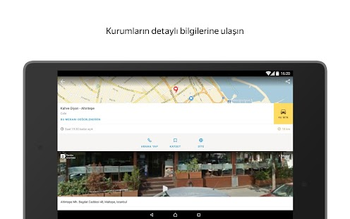 Yandex Haritalar – Türkiye Haritası ve Yol Tarifi Ekran Görüntüsü
