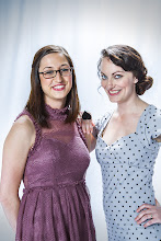 Photo: Theresa Rockovich and Ashley LaFerriere from MoCloth.com model some ModCloth frocks during the YouTube Marketing Ambassadors Summit. Credit: Bryan Davis