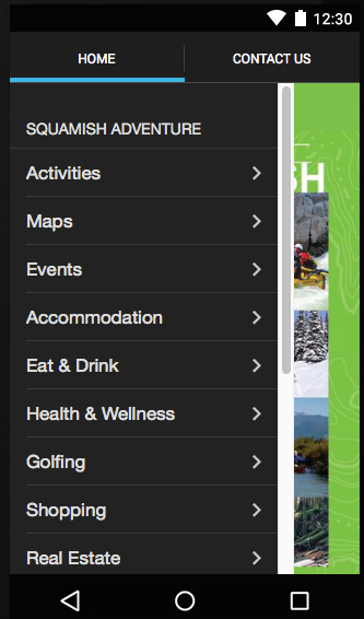 Squamish Adventure App- screenshot