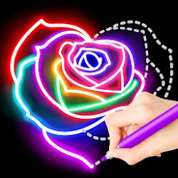 Learn To Draw Glow Flower