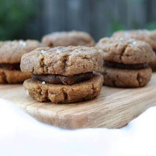 Peanut Butter with Salted Date Caramel Filling Cookie Sandwiches (Dairy-Free, GF) Recipe