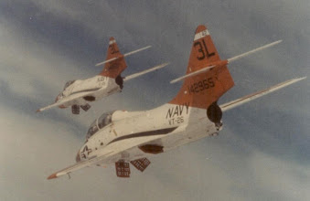 Photo: F-9's with speed brakes extended