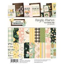 Simple Stories Double-Sided Paper Pad 6X8 24/Pkg - Spring Farmhouse UTGÅENDE
