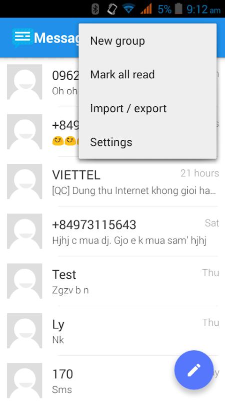Messaging SMS screenshots
