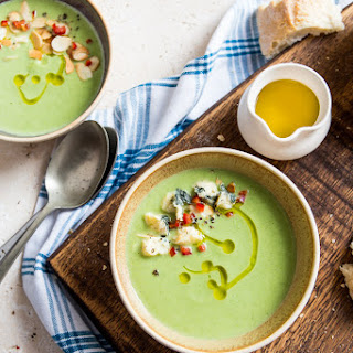 Super Quick Broccoli and Blue Cheese Soup.