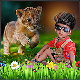 Wild Animal Overlay Effect : Frame, Sticker, Text