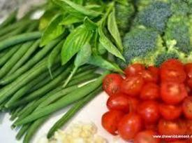 Fresh snow peas, String beans, Brussel sprouts, Cherry tomatoes and other green vegetables may...