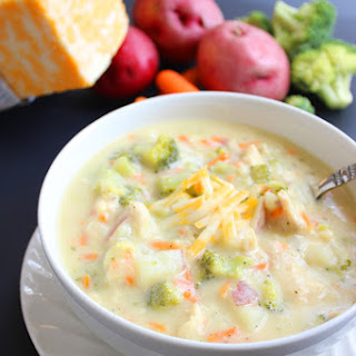 Cheesy Chicken & Vegetable Soup