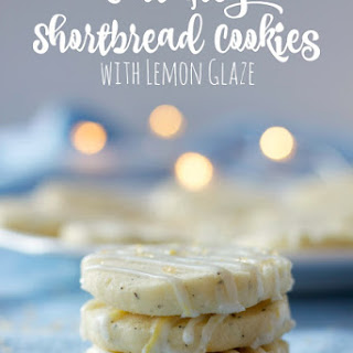 Earl Grey Shortbread Cookies with Lemon Glaze Recipe