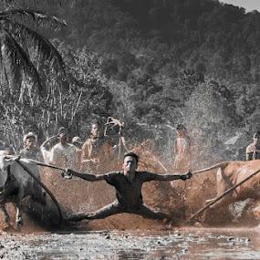 Human Fly by Taufik T KamaMoto - Sports & Fitness Rodeo/Bull Riding