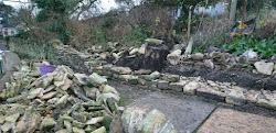 Duncan Burnell dry Stone Walls site before rebuild in Dursley