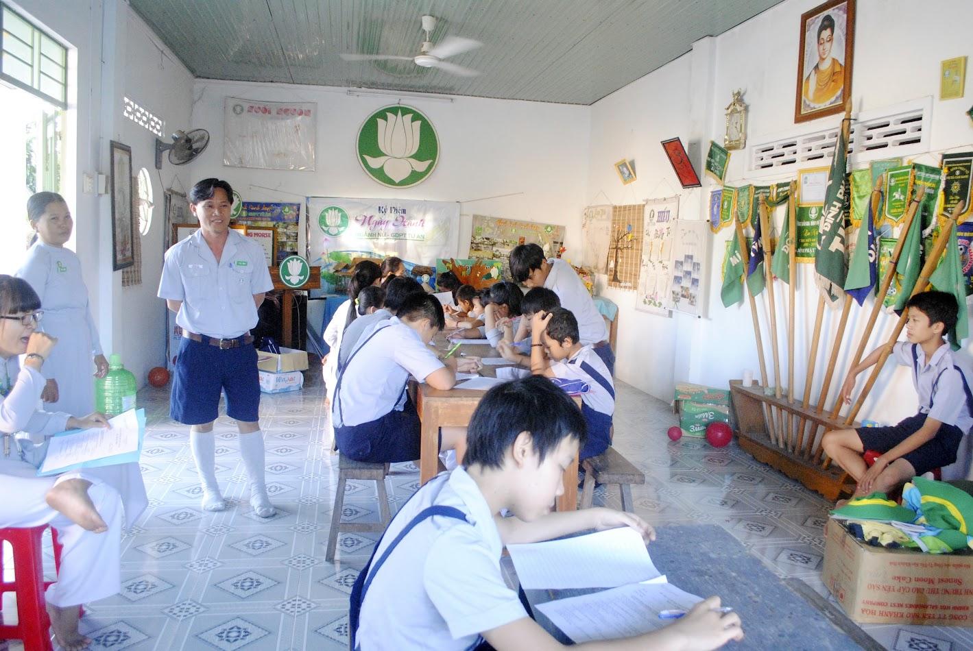 GĐPT Từ Ân tổ chức thi kết khóa Bậc học năm 2016