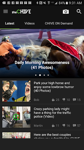 Screenshot 0 for theCHIVE's Android app'