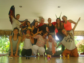 Photo: Successful completion of Yoga for Children presentation - Jeenal with the Yoga students.