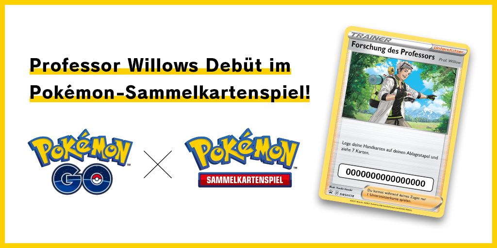 Professor Willows Debüt im Pokémon-Sammelkartenspiel!
