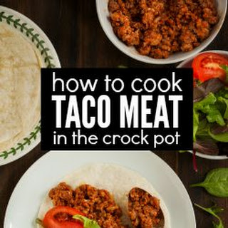 Bulk Cook Taco Meat in the Crock Pot Recipe