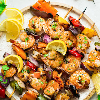 Grilled Lemon Garlic Butter Shrimp Recipe