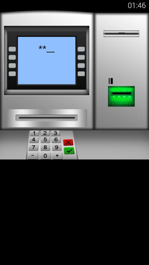 Simulador de cajero automatico aplicaciones de android for Cajero automatico cerca de mi ubicacion
