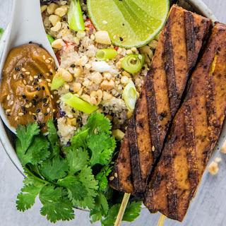 Tofu Satay With Cauliflower Fried Rice [Vegan].