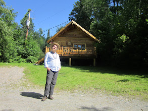 Photo: In front of the cabin we stayed in.