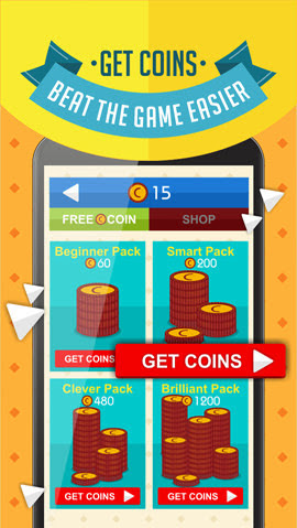 Get Coins - Beat the game easier