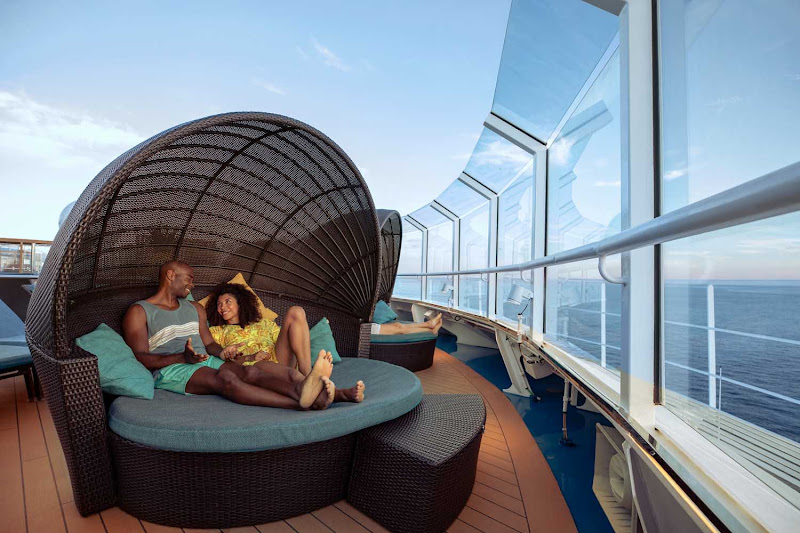 Soak in the relaxing vibe of the Serenity Adult Only Retreat with your significant other during your Carnival sailing.