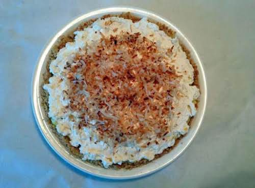 "Tropical Coconut Cream Pie in Coconut Cookie Crust ""This dreamy, creamy, full..."