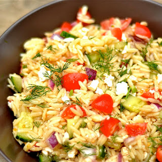 Greek Orzo Salad with Dill
