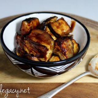 Honey Baked Eggplant Wedges.