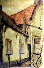 Photo: 'Steegje in de Voorstraat' schilderij van Bart Nooren.