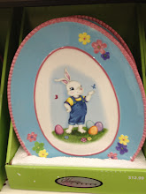 Photo: They also had these super cute Easter plates...they would be so great for putting Easter treats on them.