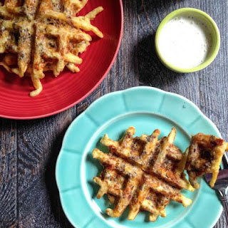 Low Carb Bacon Cheeseburger Waffles