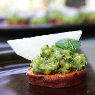 Sweet Potatoes with Avocados and Truffle Oil.